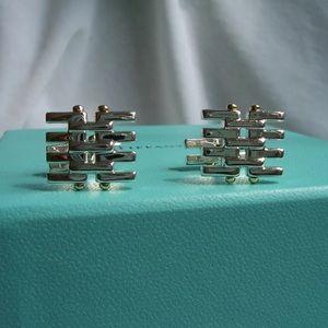 Tiffany & Co. 925/750 Gatelink Cuff Links
